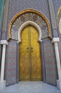 Moroccan Palace Door stock image. Image of detail, arabian ...
