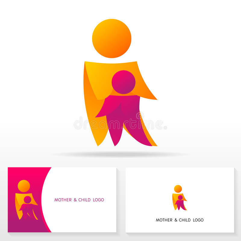 Mother And Child Logo Icon Design Template Elements - Illustration