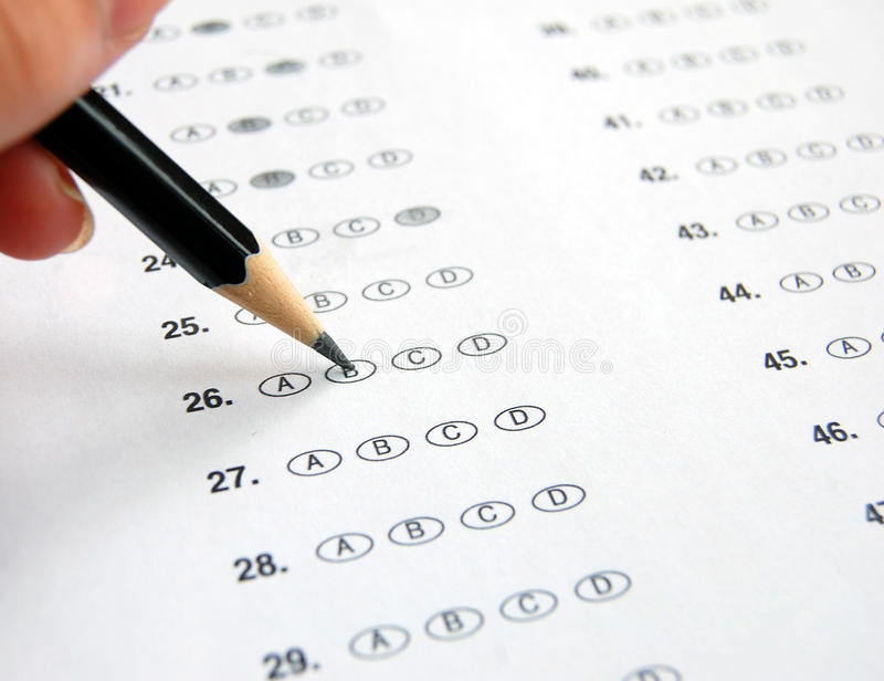 Multiple Choice Exam stock image Image of decisions - 42536555