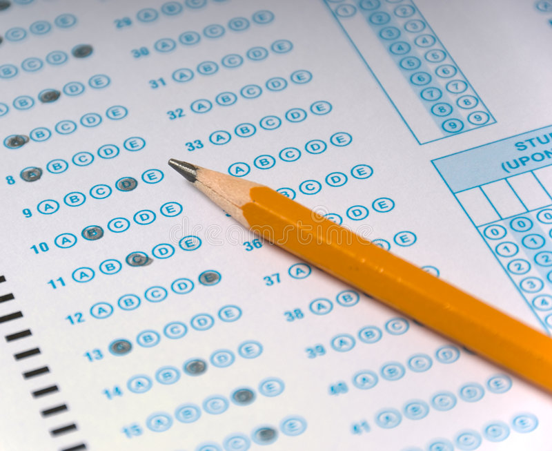 Multiple choice test stock image Image of pencil, paper - 3039317