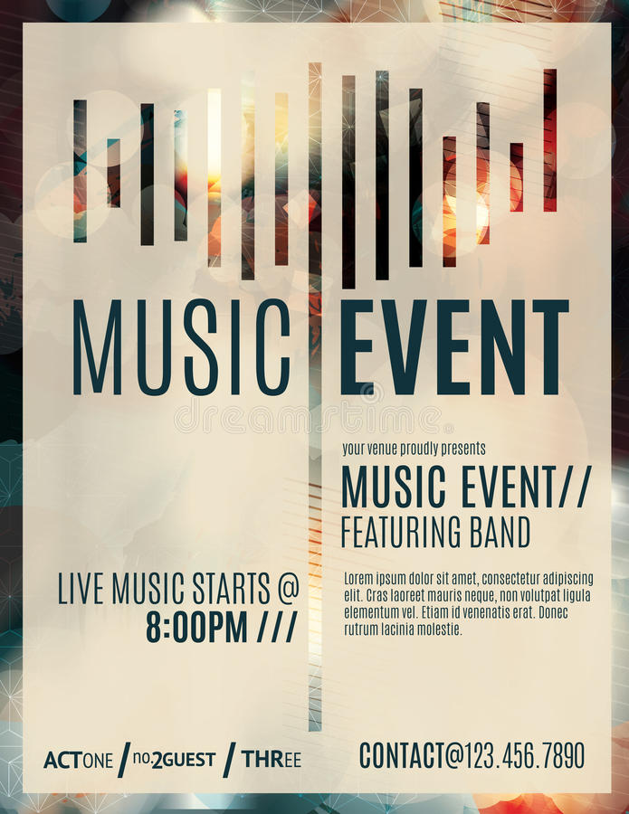 blank music flyer template - Onwebioinnovate