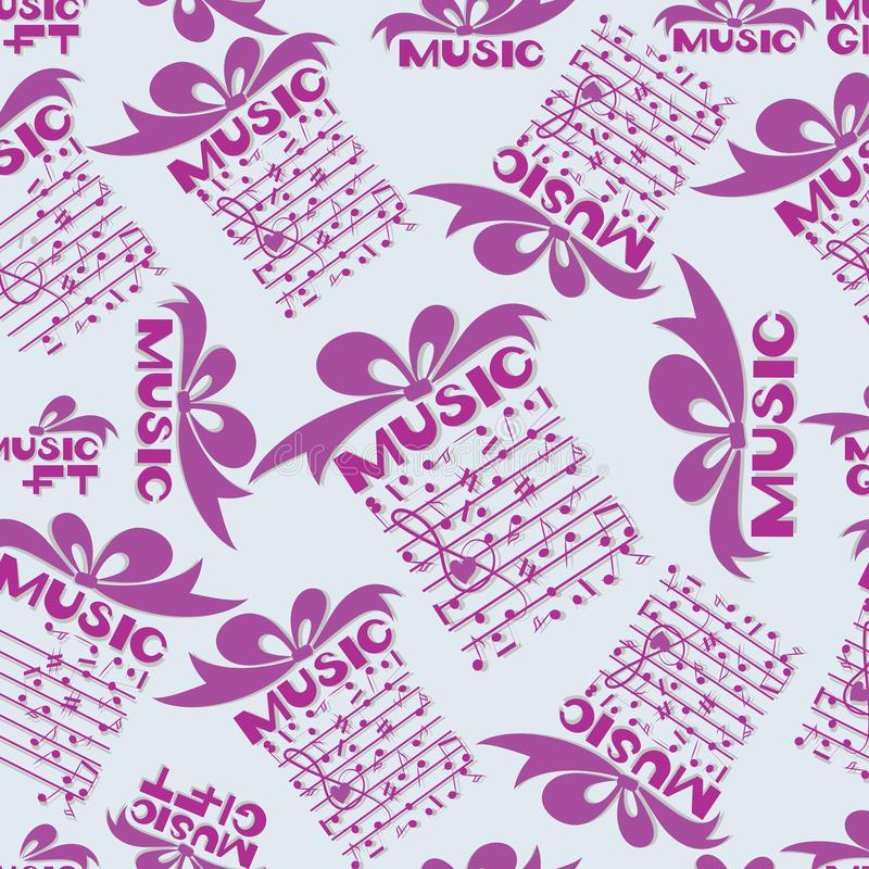 Musical gift Notes stock vector Illustration of drawing - 109476622