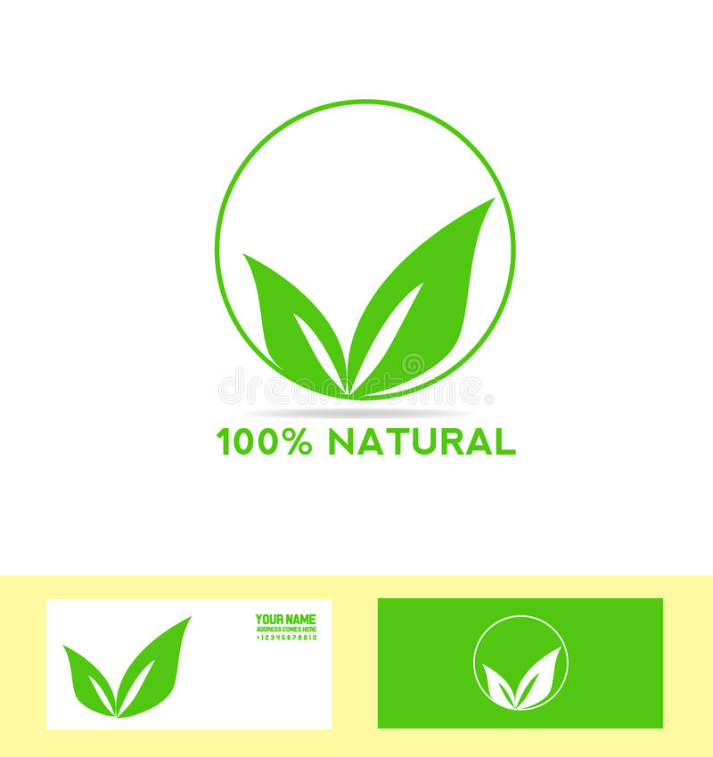 Natural Product Bio Eco Vegan Stock Vector - Illustration of