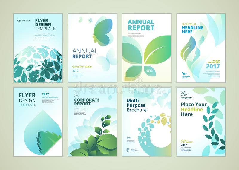 Nature And Healthcare Products Brochure Cover Design And Flyer - flyer layout templates