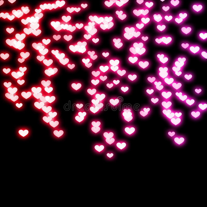 Free Falling In Love Wallpaper Neon Hearts Royalty Free Stock Photo Image 16399655
