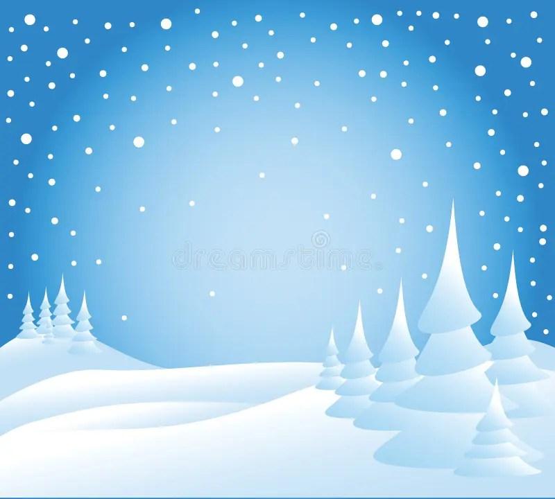 Free Animated Snow Falling Wallpaper Neve Che Cade Sugli Alberi Illustrazione Vettoriale