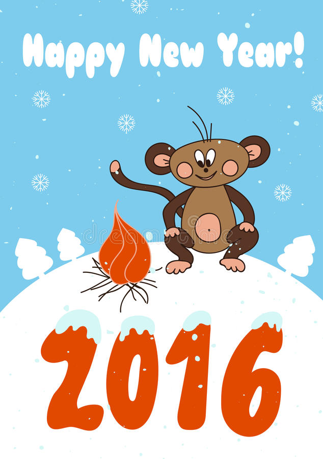 New Year card template stock vector Illustration of holiday - 63749453