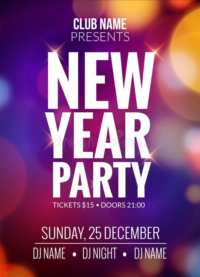 New Year Poster Template best 35 christmas  new year flyer - new year poster template