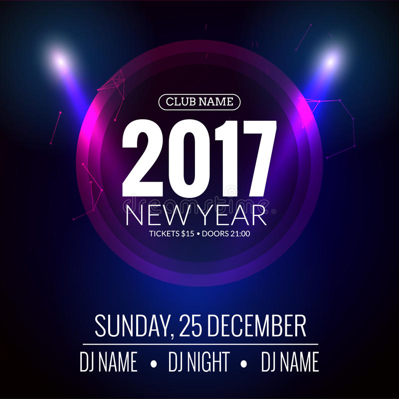 New Year Party Design Banner Event Celebration Flyer Template - new year poster template