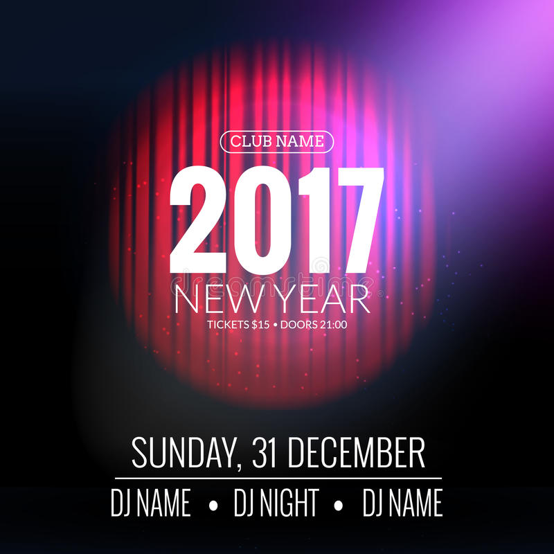 New Year Party Design Banner Event Celebration Flyer Template With - new year poster template