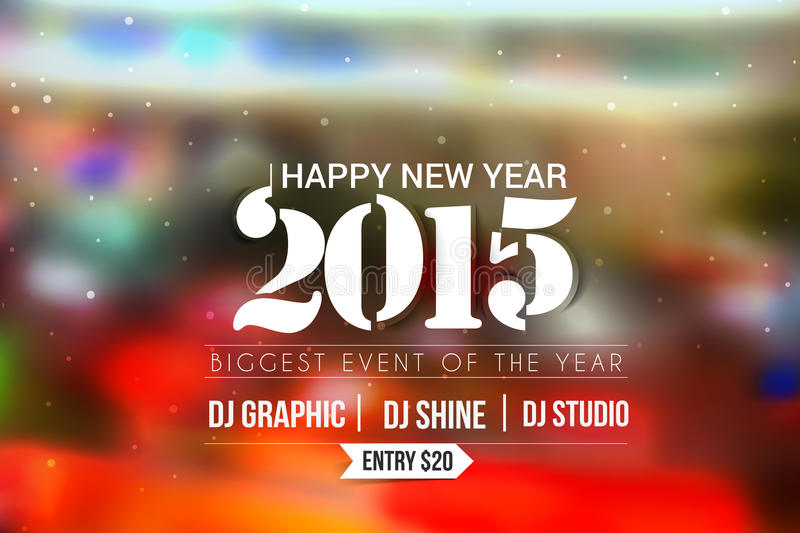 New Year Party Poster Design Stock Vector - Illustration of - party brochure template