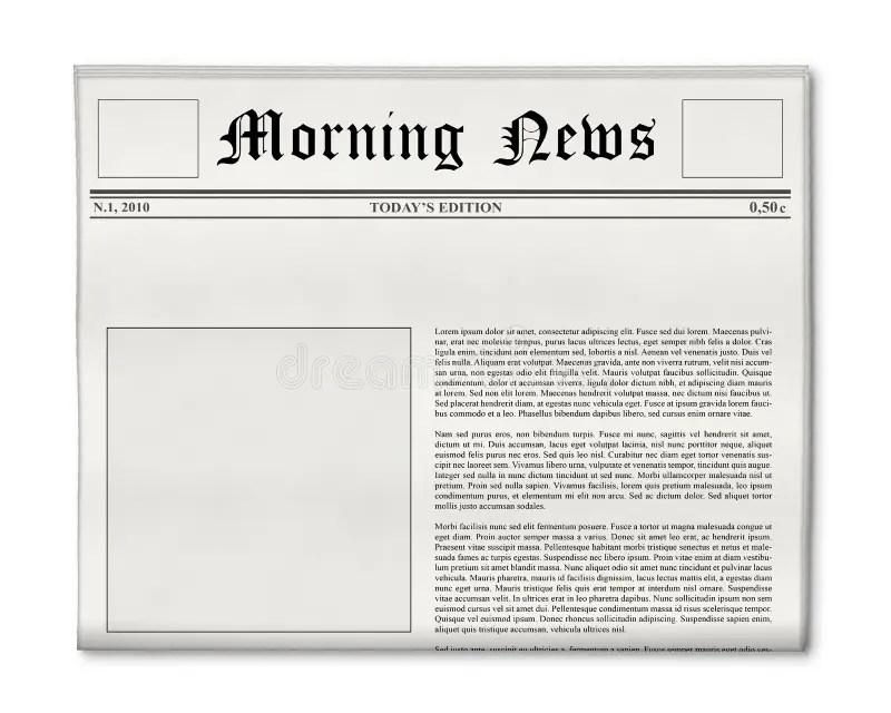 Newspaper Headline And Photo Template Stock Image - Image of - newspaper headline template
