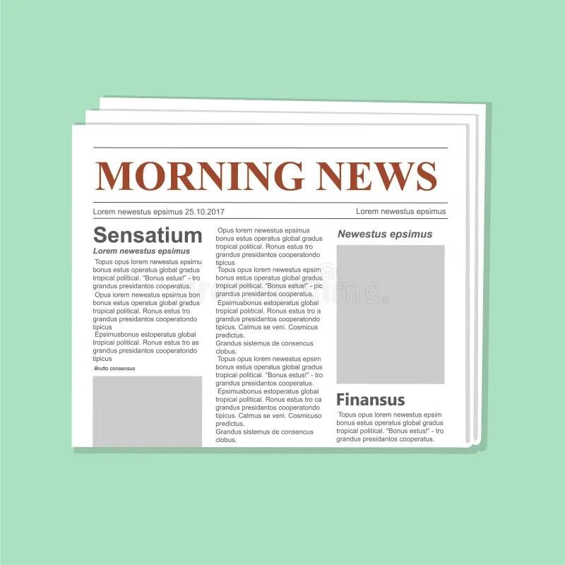 Newspaper Journal Vector Template Daily Paper Flat Illustration - journal paper template