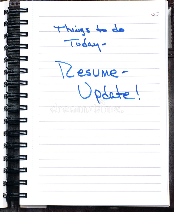 Note to update resume stock image Image of spiral, update - 8327821 - resume update