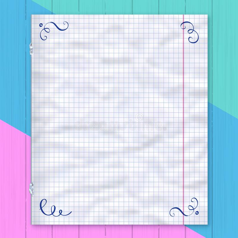 Notebook Page, Lined Paper Colorful Background Design Template - color lined paper