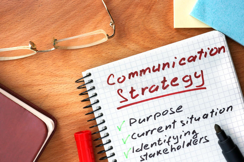 Notepad With Communication Strategy Concept Stock Image - Image of - communication strategy