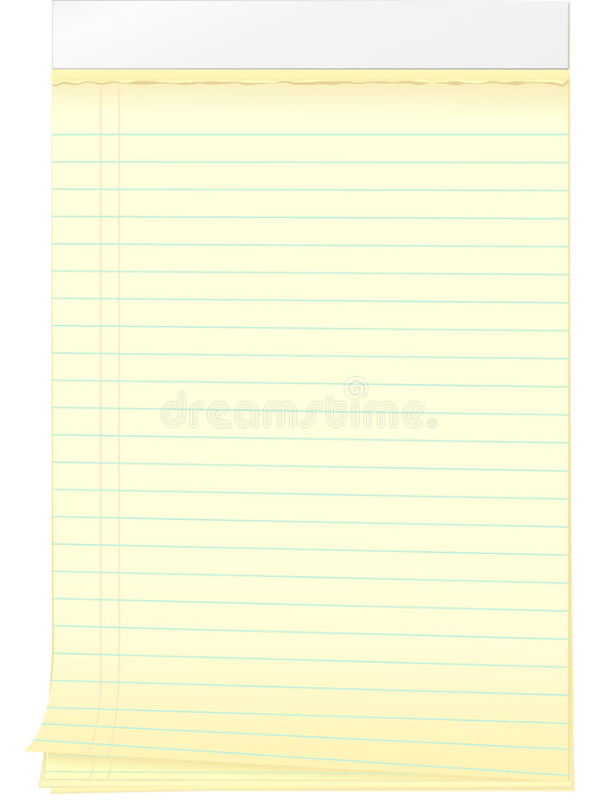 Notepad With Curling Pages And Torn Edge Stock Vector - Illustration - Culring Pajis