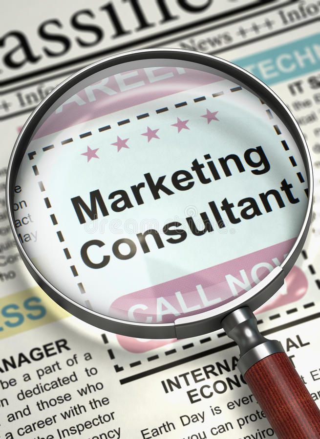 Now Hiring Marketing Consultant 3D Stock Photo - Image of brand - marketing consultant job description