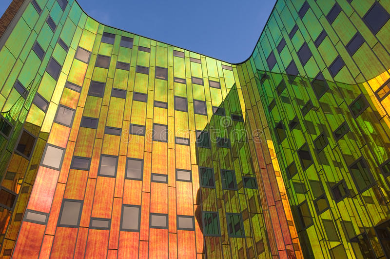 Office Building With All The Colors Of The Rainbow Stock Image