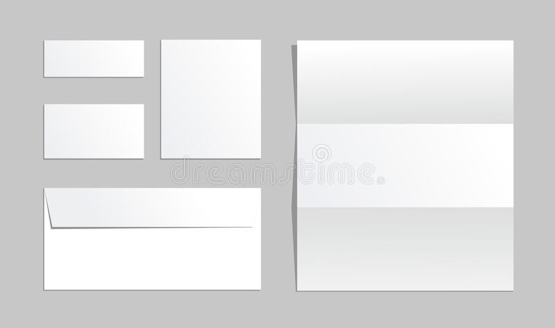 Office Paper Of Different Types Business Office Set Envelope