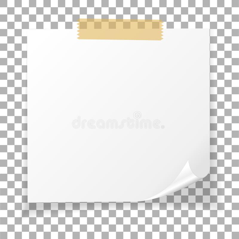 Office White Paper Sticky Note Isolated On Transparent Background - white paper template