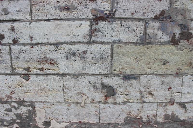 Old Concrete Blocks Wall Textures Stock Photo - Image of closeup