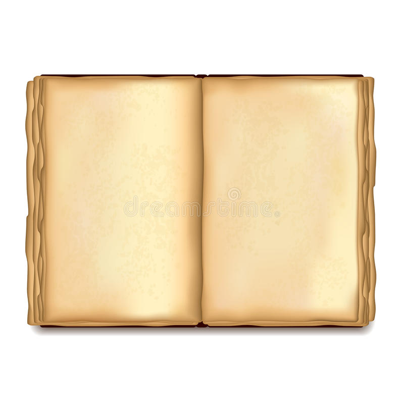 Old Opened Book On White Vector Stock Vector - Illustration of - opened book