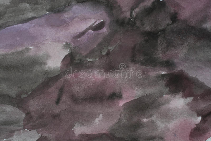Old Purple Black Watercolor Background Stock Image - Image of
