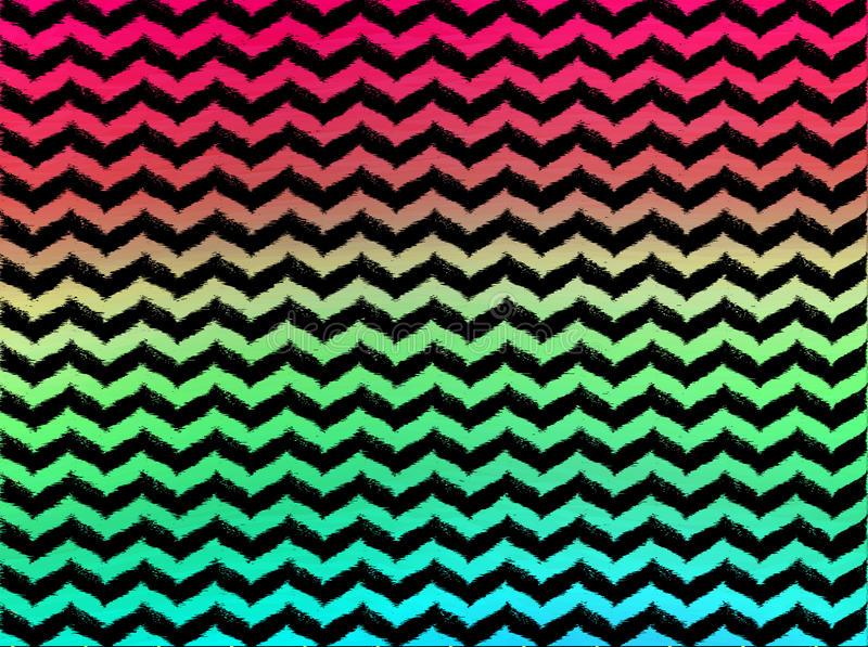 Tribal Cute Wallpaper Ombre Wavy Chevrons On Black Background Stock Illustration