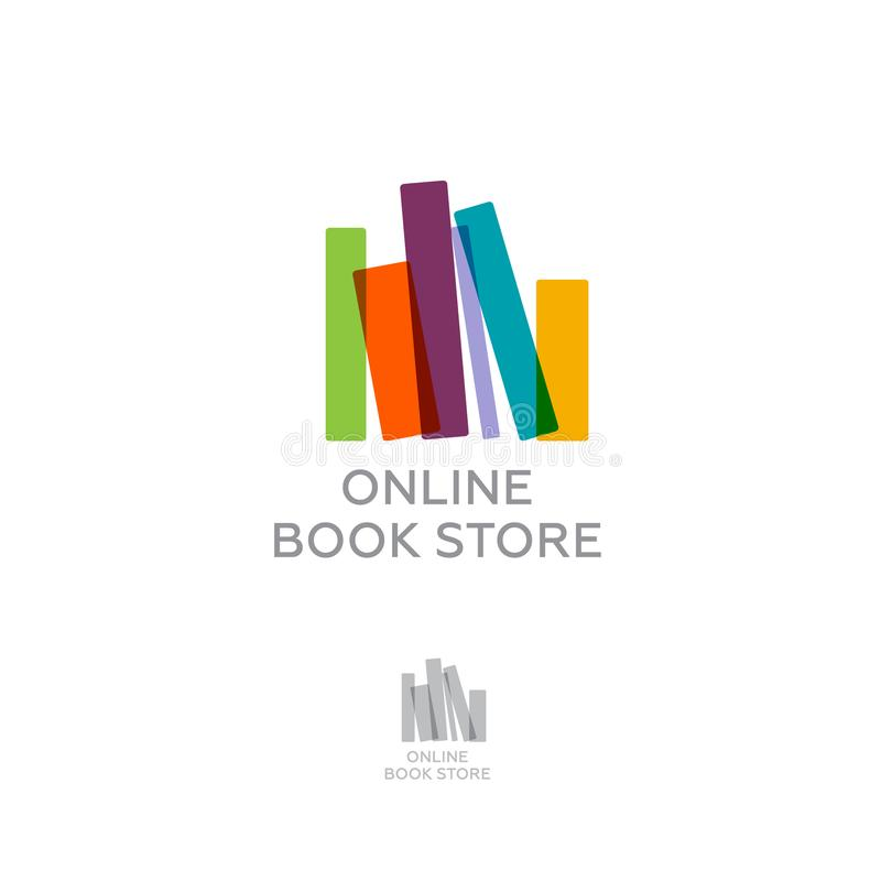 Online Book Store Digital Library Colorful Books With Letters
