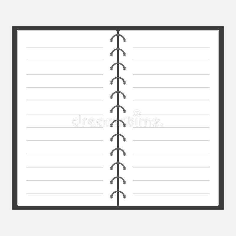 Open Notebook With Spiral And Blank Lined Paper Lined Template - blank lined paper template