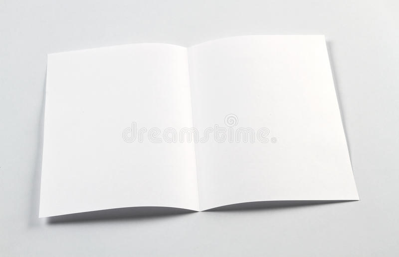 Open White Blank Brochure A4-A5 Flyer Mockup Stock Image - Image of - blank brochure
