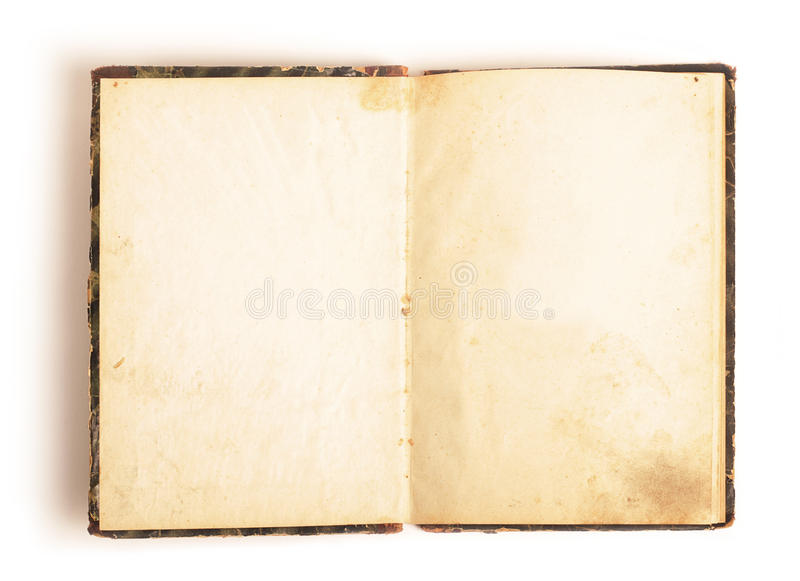 Opened book stock image Image of binder, isolated, aged - 17786851 - opened book