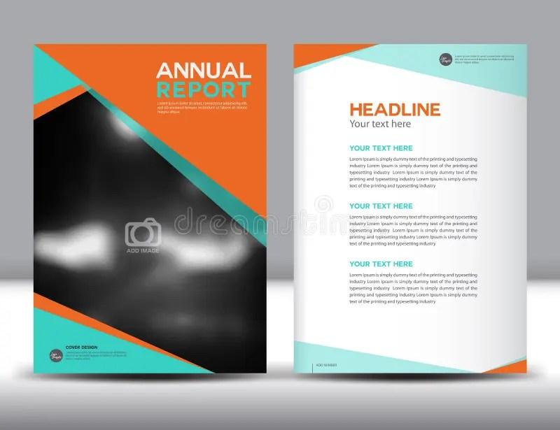 Orange Annual Report Template Vector Illustration Stock Vector