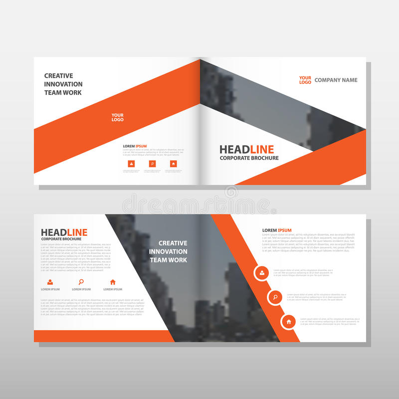 Orange Brochure Leaflet Flyer Annual Report Template Design, Book