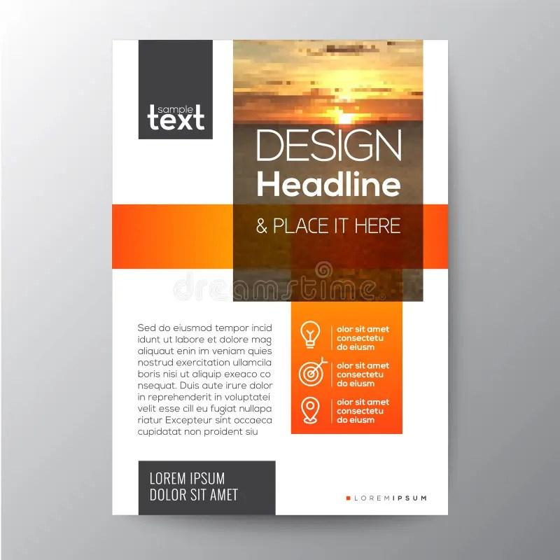 Orange Business Brochure Template Design Stock Vector - Illustration
