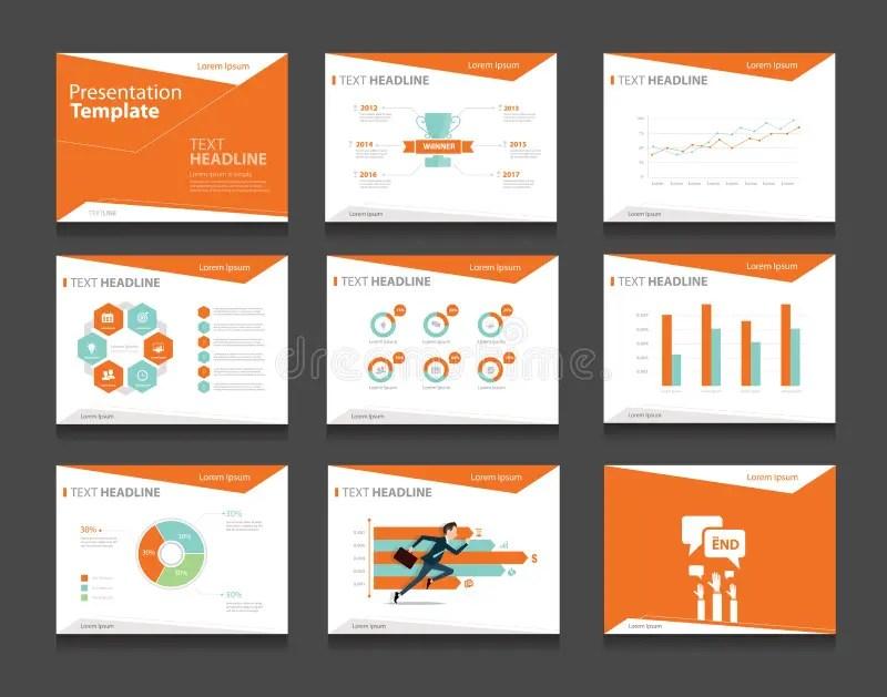Orange Infographic Business Presentation Template Setpowerpoint - presentation template