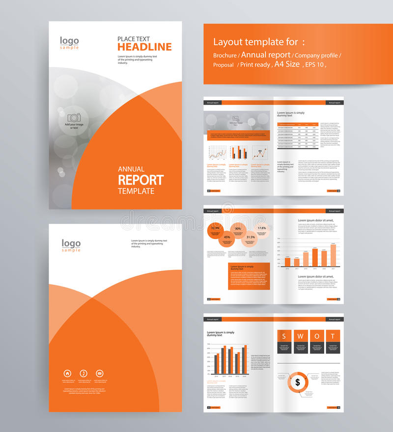 Page Layout For Company Profile, Annual Report, And Brochure