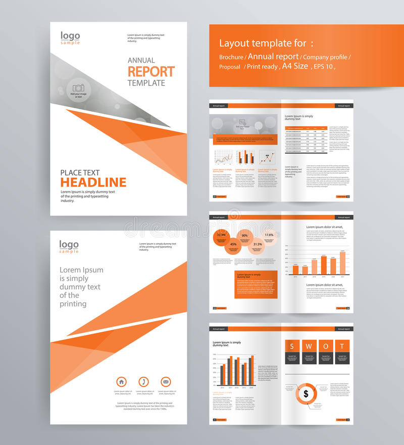 Page Layout For Company Profile, Annual Report, And Brochure - company report template