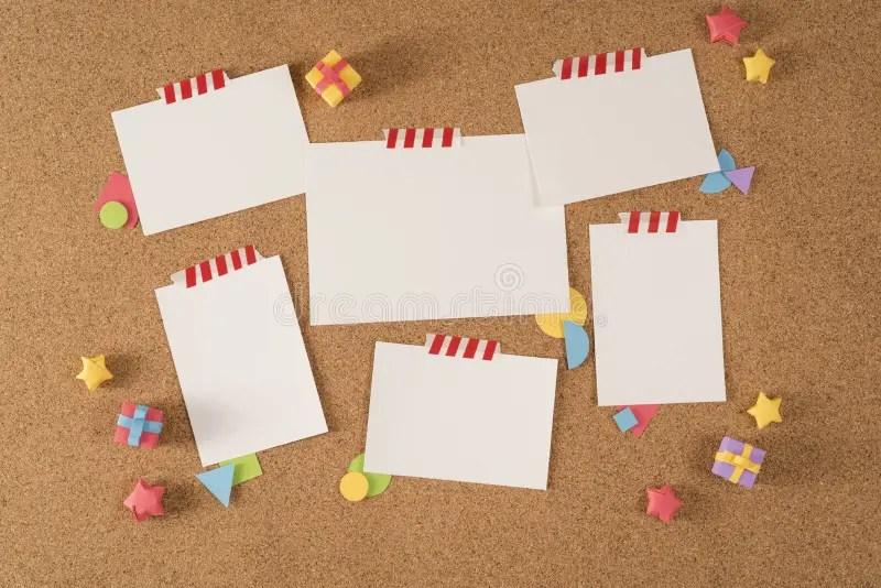 Paper Note Office Board Cork Notice Template Portfolio Stock Image - board memo template