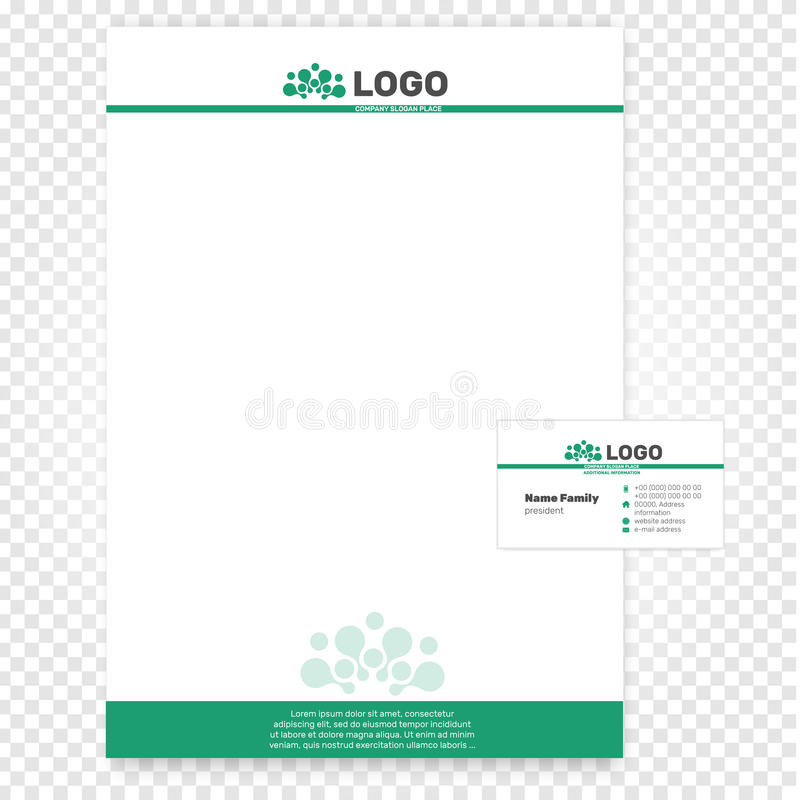 Paper Page Vector Illustration Company Identity Business Template
