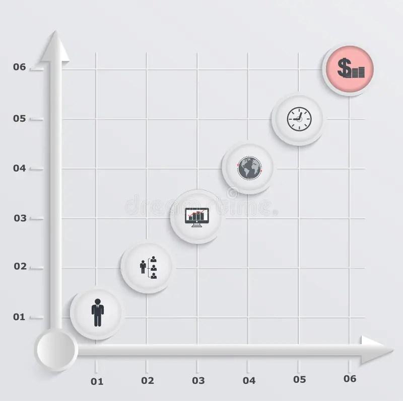 Paper Stepwise Economic Graph Stock Illustration - Illustration of