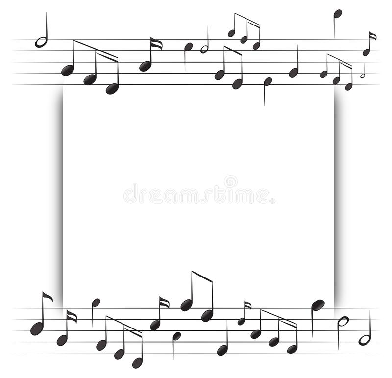 Paper Template With Music Notes In Background Stock Vector - music paper template