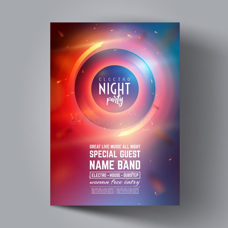 Party Flyer Or Brochure Layout Template Club Party Banner Design - party brochure template