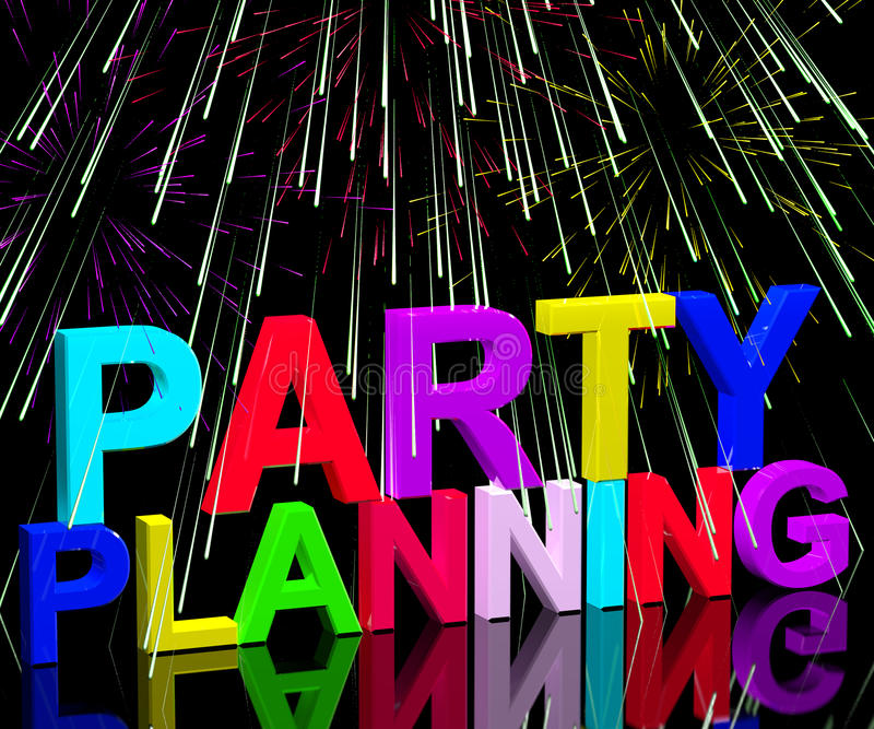 Party Planning Words Showing Birthday Or Anniversary Celebration - party planning