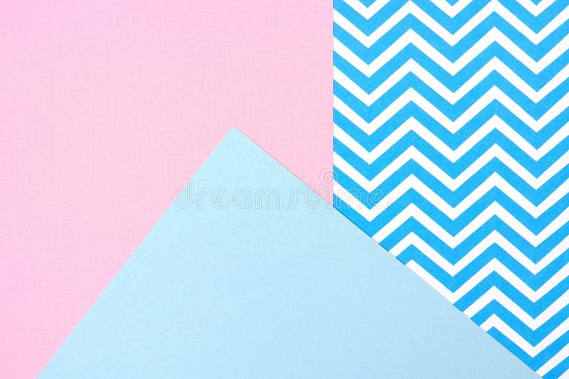 Pastel Pink And Blue Angular Abstract Background With Chevron