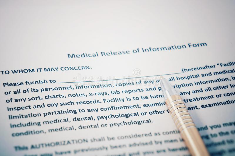 Patient Release Of Information Form With HIPAA Regulations Documents - hipaa form
