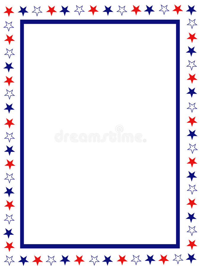 Patriotic border stock vector Illustration of illustration - 8437483