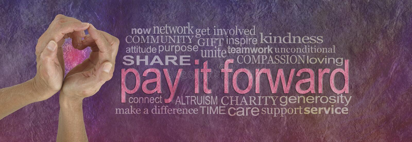 PAY IT FORWARD With Love Word Cloud Stock Photo - Image of