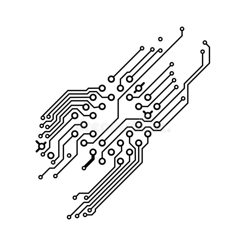 closeup of a black printed circuit board pcb stock photo and